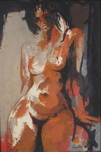 seated nude by douglas macdiarmid