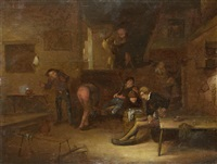 tavern interior by egbert van heemskerk