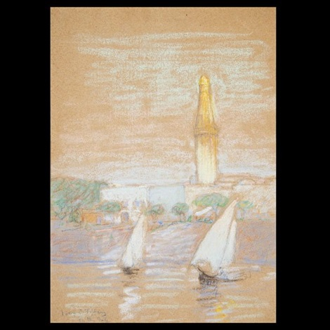 on the nile by louis comfort tiffany