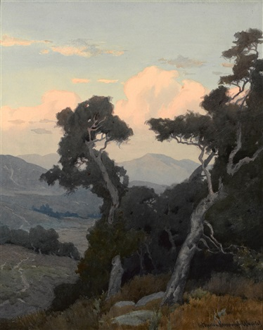 landscape with oak trees by marion kavanaugh wachtel