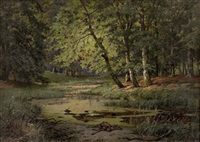 am waldbach by rudolf fischer