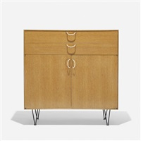 rare cabinet from the basic cabinet series by george nelson & associates