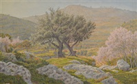 paysage provençal by henri rivière