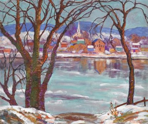lambertville across the delaware winter by fern isabel coppedge