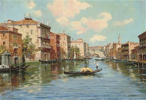 on the grand canal venice by cesare vianello