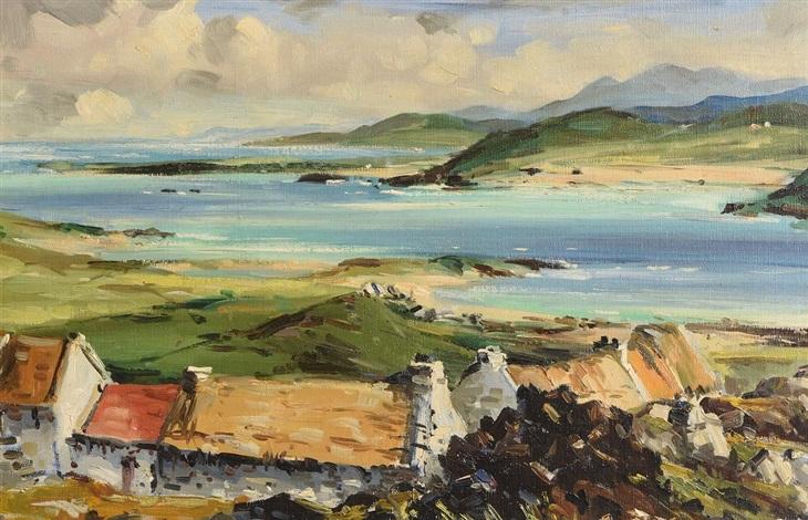 Irish Cottages Connemara By Kenneth Webb