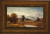 farm in an extensive new england landscape by charles wilson knapp