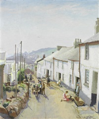 old newlyn by harold harvey