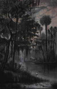swamp scene by american school-louisiana (19)