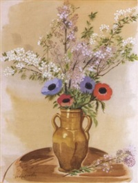 flowers in a vase by agenor asteriadis
