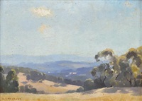 a summer landscape no. 1 by albert ernest newbury