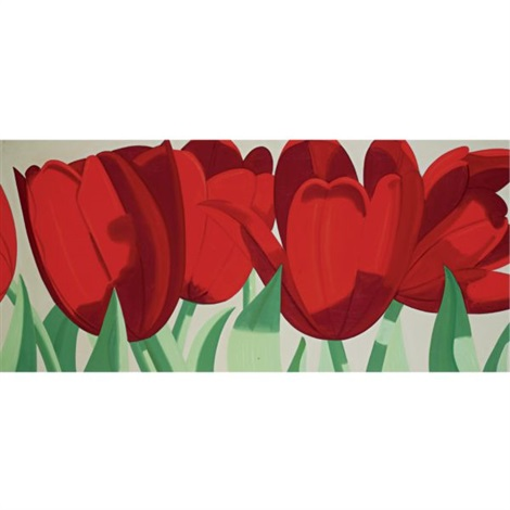 red tulips by alex katz