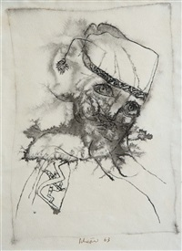 ohne titel (+ 2 others, watercolor; 3 works) by hans schärer