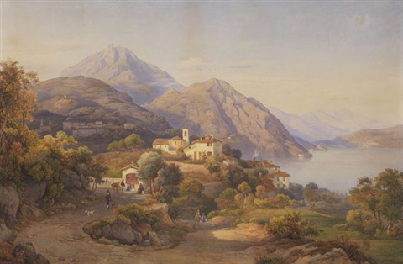 abendstimmung am lago maggiore by salomon corrodi