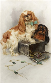 toy spaniels by arthur wardle