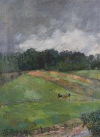 landscape near sababurg by theodor rocholl