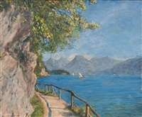 by the wolfgangsee in austria by adolf helmberger