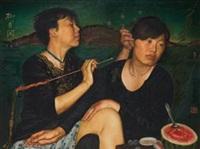 柳月闲情 (diptych) by xia xing