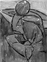 seated figure by michael lekakis