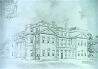 horton hall, northamptonshire                (and a design for the vestibule) by william courtenay