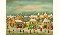 rue du chateau l'hiver by jean fous