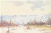 winter landscape by joseph henry sharp