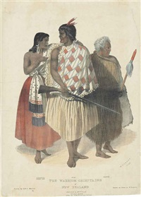 the warrior chieftains of new zealand, by w. nicholas by joseph jenner merrett