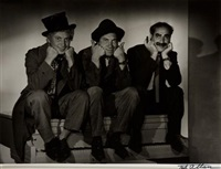 marx brothers - harop, chico and groucho by ted allan
