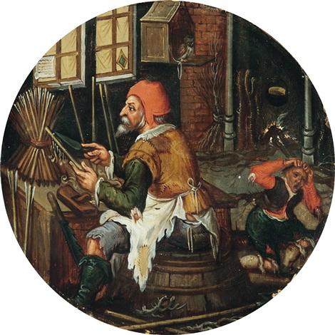 der pfeilschnitzer by pieter brueghel the younger