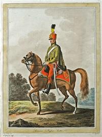abbildung der neuen adjustierung der k.k. armee (46 works) by johann georg mansfeld and vinzenz georg kininger