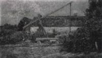ungarischer bauernhof mit ziehbrunnen by hermine von janda