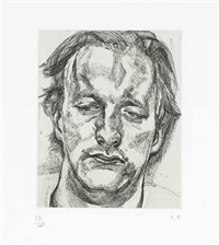 head of a man by lucian freud