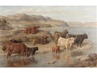 cattle, loch strichen by david george steell