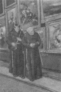 monks in a picture gallery by theodore de saussure