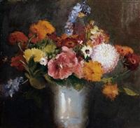 still life of flowers by henry john lintott