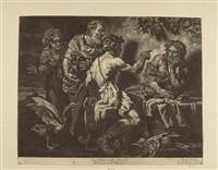 jupiter und merkur bei philemon und baucis (after johann carl loth) by jakob männl