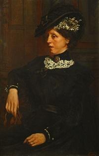 portrait de dame by georges jacqmotte
