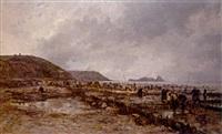 gathering oysters by henri louis scott