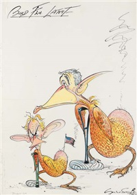 bird flu latest, lame ducks also dangerous threat to public by gerald scarfe