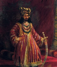 portrait of h.h. rukn ud-daula by clare, miss burton