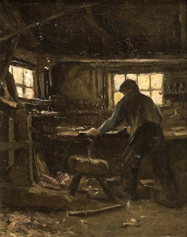 the blacksmith by jozef israëls