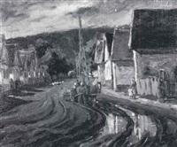 village street by pierre billet