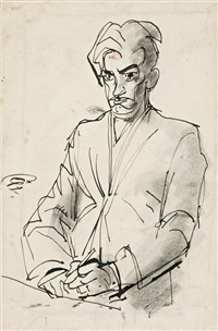 drawing for a self portrait by william dobell