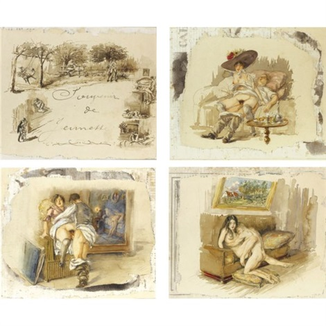 souvenir de jeunesse set of 24 title by mihály von zichy