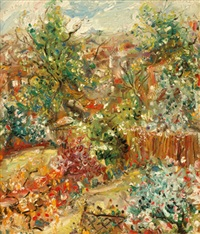london suburban gardens in the spring ii by matthew perceval