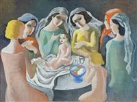 women with a child (baptism) by béla kádár