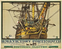h.m.s. victory, portsmouth by kenneth shoesmith