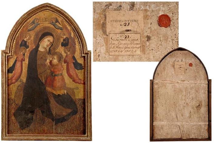 vièrge à l'enfant entourée d'anges by agnolo di taddeo gaddi