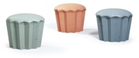 muffin-hocker nr. b1, g1 und p1 (set of 3) by phillipp ganter