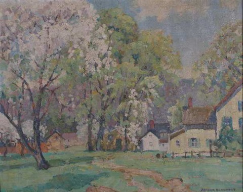 spring landscape by arthur j beaumont